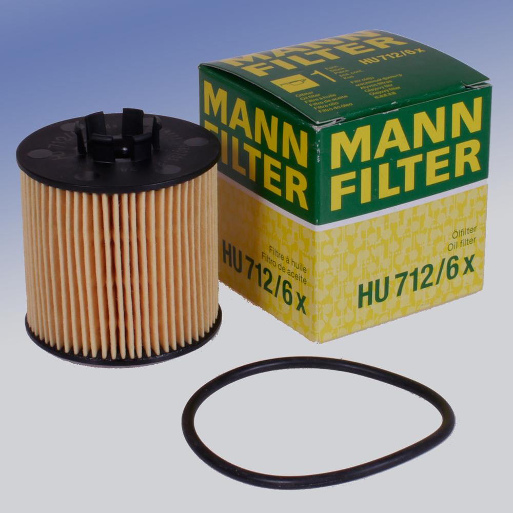 Original MANN FILTER Ölfilter HU712//6X Filtereinsatz für Audi Seat Skoda VW
