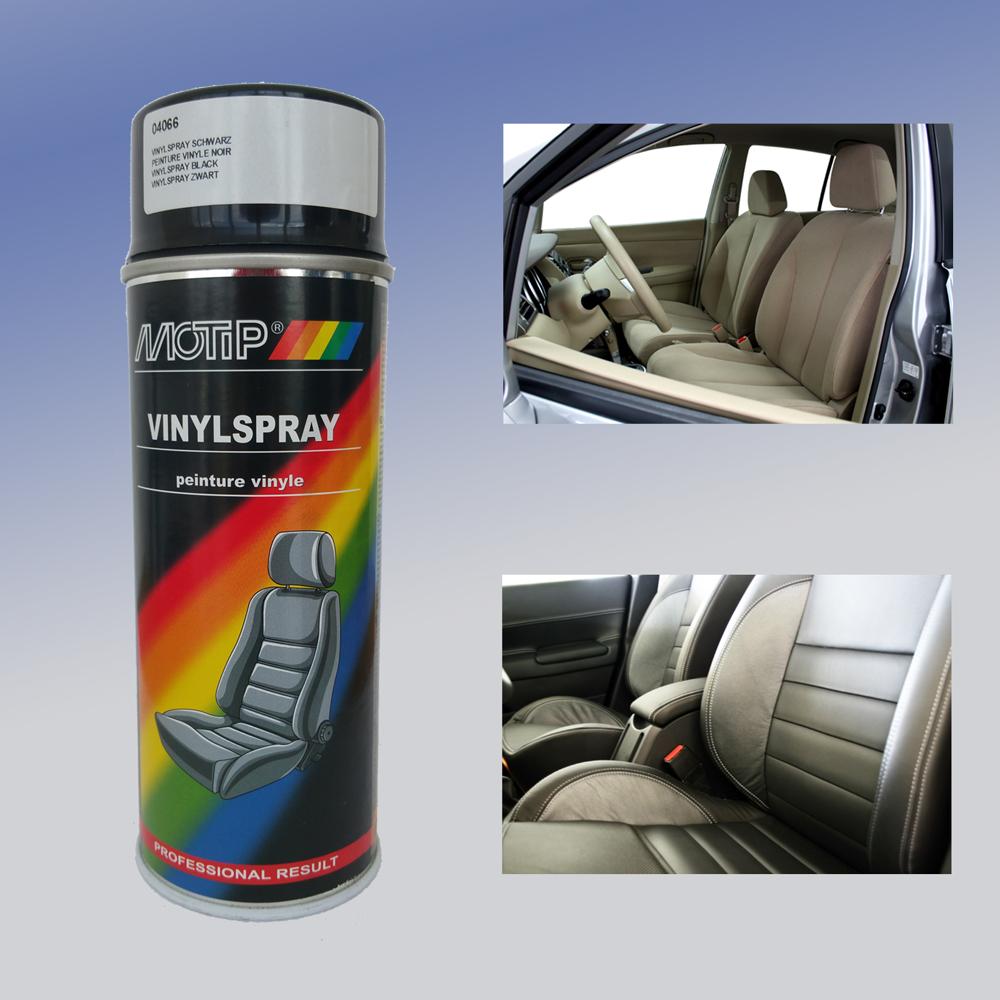 motip vinyl spray textil spray pflege f r autositze aus. Black Bedroom Furniture Sets. Home Design Ideas